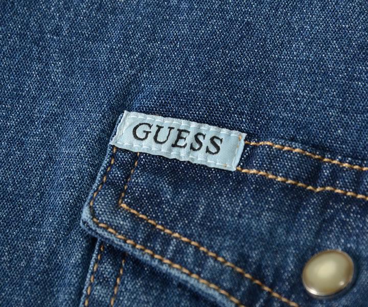 【セール】GUESS ゲス Tシャツ 長袖シャツ デニム ウエスタン ピスネーム (M0YH11R3UR0)