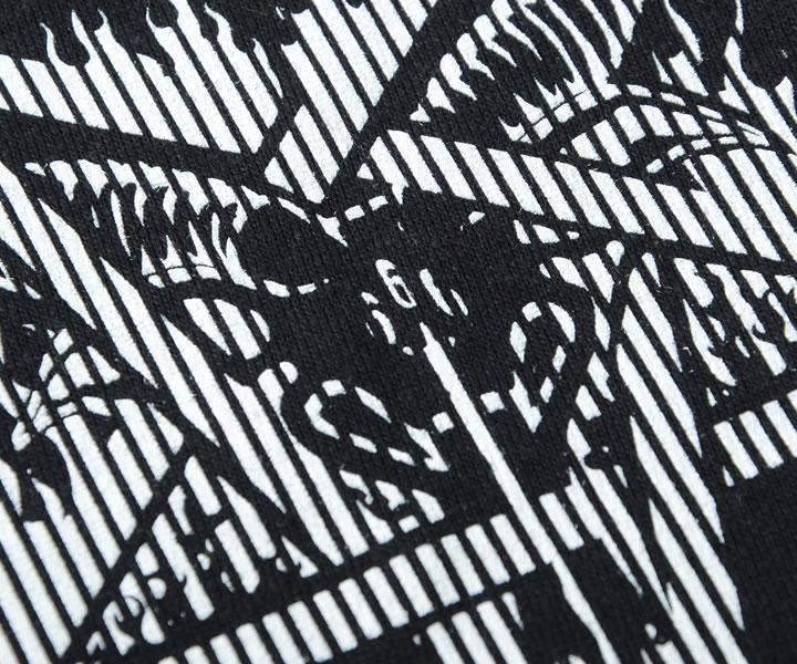 【セール】THRASHER スラッシャー Tシャツ 半袖 フレイムロゴ スケープゴート ストライプ (TH91227)