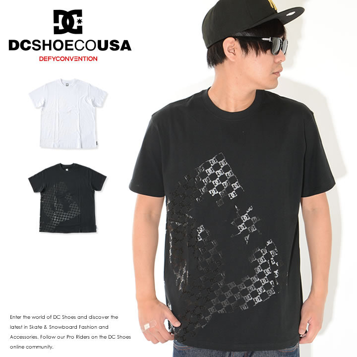 DC SHOES ディーシーシューズ Tシャツ 半袖 バイアスビッグロゴ 同色モノグラム