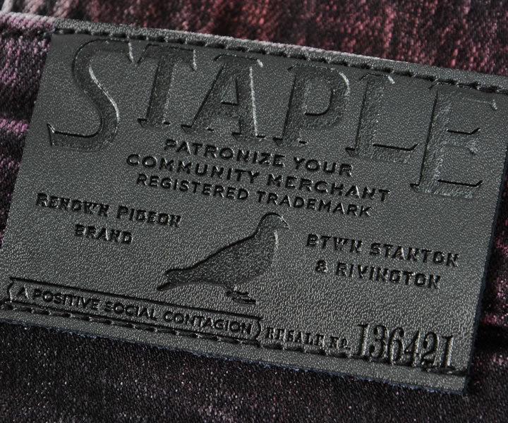 【セール】STAPLE ステイプル デニムパンツ ジーンズ カラーリング ダメージ加工 (2104D6509)