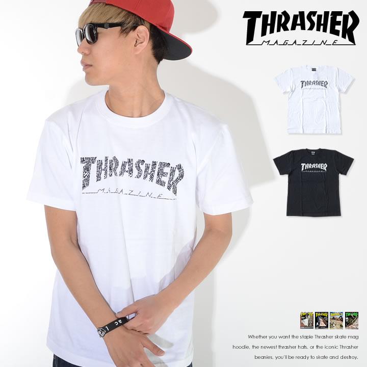 【セール】THRASHER スラッシャー Tシャツ 半袖 マルチフォントMAGロゴ  (TH91113)