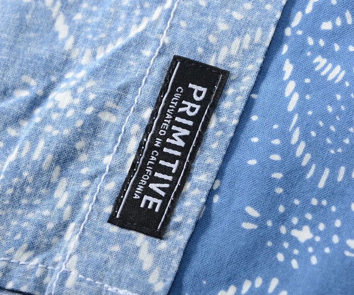 【タイムセール 2020/12/04 20:00 〜 2020/12/11 01:59 まで】PRIMITIVE プリミティブ 半袖シャツ 総柄 ネイティブ柄 左胸ポケット *(PR18SU20) 返品交換不可