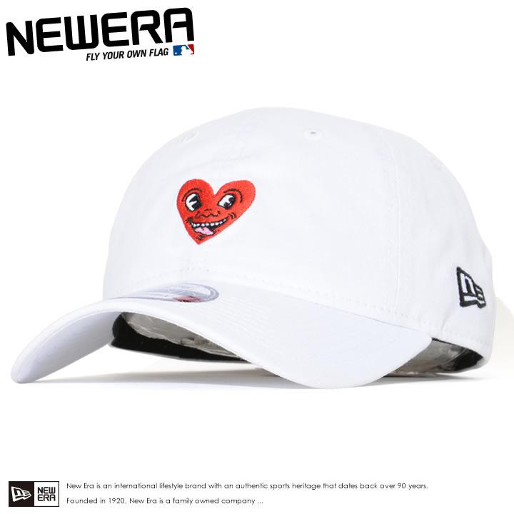 NEWERA ニューエラ キャップ 帽子 9FIFTY ストラップバック キースへリング コラボ ハート (12551306)