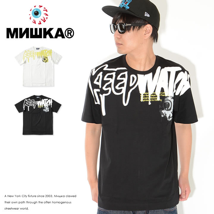 MISHKA ミシカ Tシャツ 半袖 KEEPWATCH ドリップフォント (M21000005)