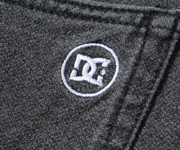 DC SHOES ディーシーシューズ デニムパンツ スウェット ワンポイントロゴ刺繍 (ADYFB03042)