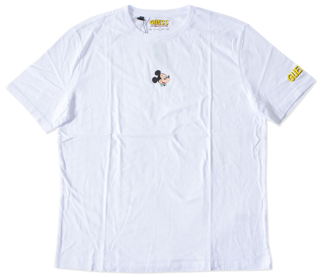 【セール】GUESS ゲス Tシャツ 半袖 ミッキー ワンポイント DISENEY ディズニー コラボ (ML2K7771DM)