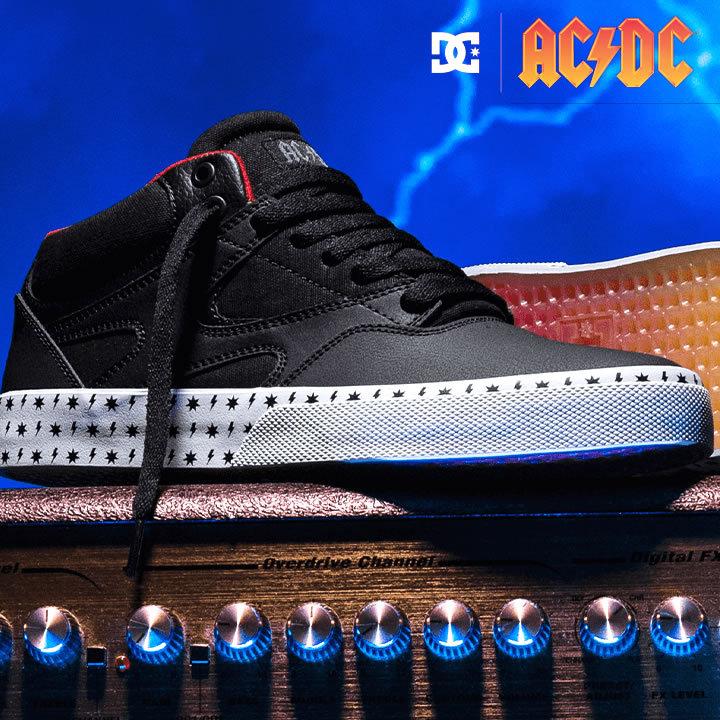 DC SHOES ディーシーシューズ スニーカー シューズ AC/DC コラボ KALIS VULC MID AC/DC (ADYS300638)