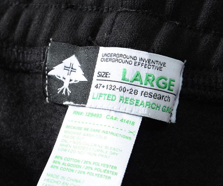【セール】LRG エルアールジー ジョガーパンツ スウェット ワンポイントロゴ刺繍 マリファナリーフ (L0L0MBWXX)