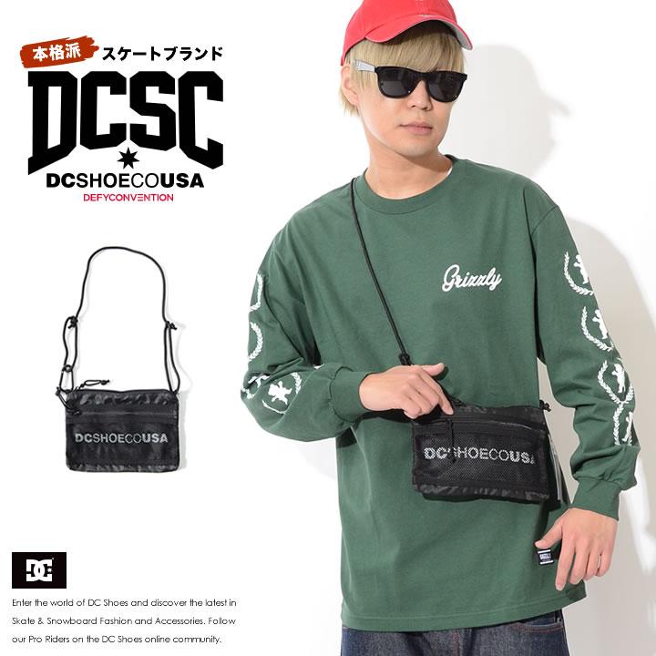【セール】DC SHOES ディーシーシューズ ショルダーバッグ サコッシュ カバン  メッシュポケット ネームロゴ (5130E909)
