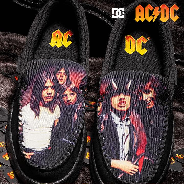 DC SHOES ディーシーシューズ スリッポン スニーカー シューズ AC/DC コラボ VILLAIN 2 ACDC (ADYS100643)