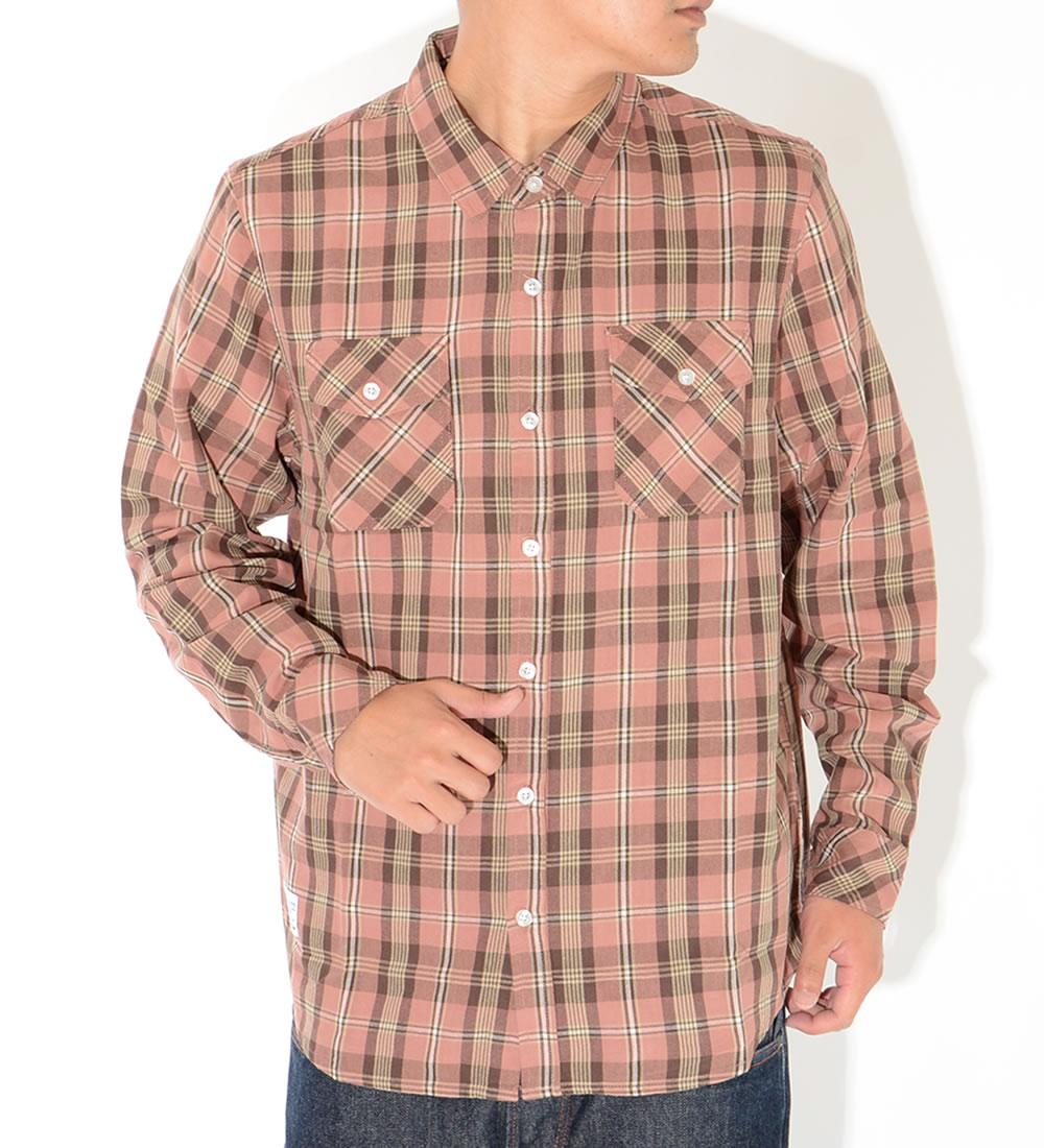 LRG エルアールジー 長袖シャツ チェック ダブルフラップポケット 裾ピスネーム (L099MLBXX)