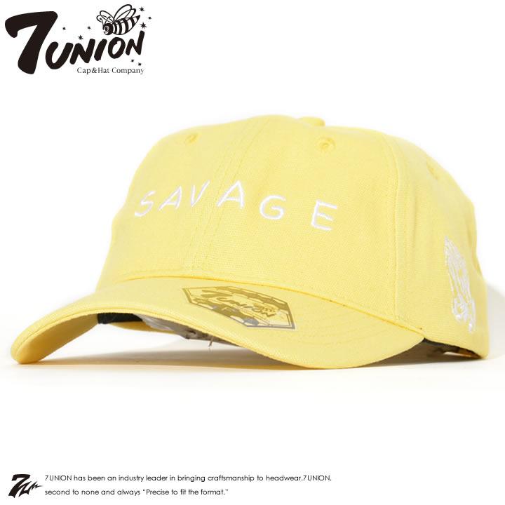 【セール】7UNION セブンユニオン キャップ 帽子 ストラップバック SAVAGE プレイハンド刺繍 *(IPVW-109)