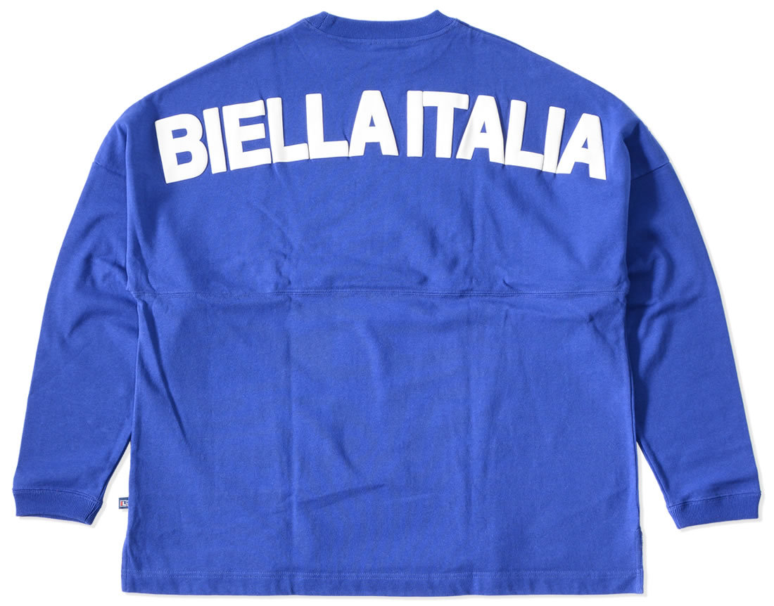 【セール】【アウトレット】FILA フィラ ロンT 長袖 スモールロゴ刺繍 BIELLA ITALIA ビッグシルエット *(FM9540)