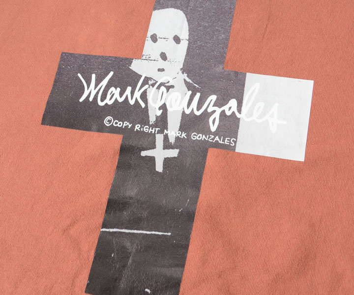 MARK GONZALES マークゴンザレス ロンT 長袖 RIPPED A GOAT バッククロスデザイン (2G7-61310)