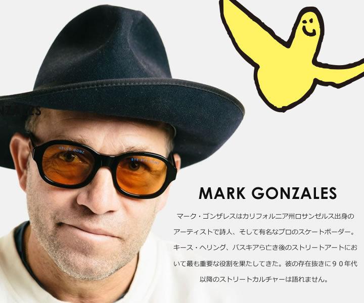 MARK GONZALES マークゴンザレス 長袖シャツ ビッグシルエット ストライプ柄 ソーシャルディスタンス (2G8-60924)