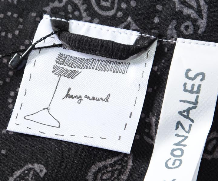 MARK GONZALES マークゴンザレス コーチジャケット 総柄バンダナ ペイズリー 胸ワンポイント刺繍 (2G5-60937)