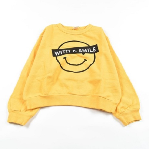 SMILEトレーナー(黄色95cm)
