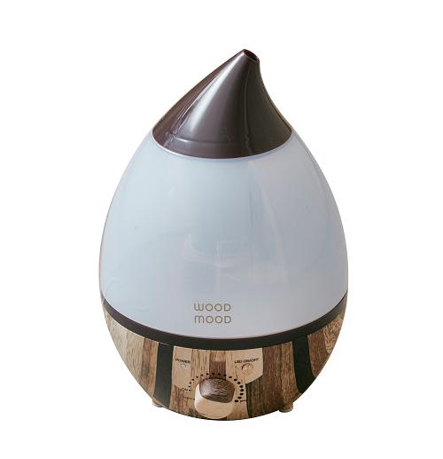 アロマ超音波加湿器 Wood mood(ウッドムード)