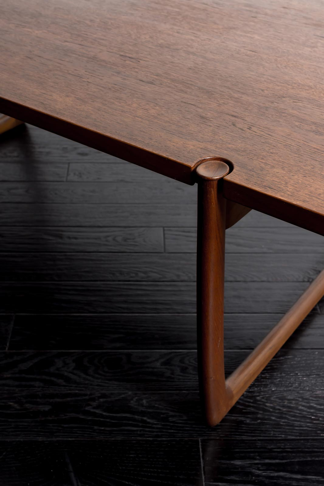 #596 Coffee Table by Peter Hvidt & Orla Molgaard Nielsen