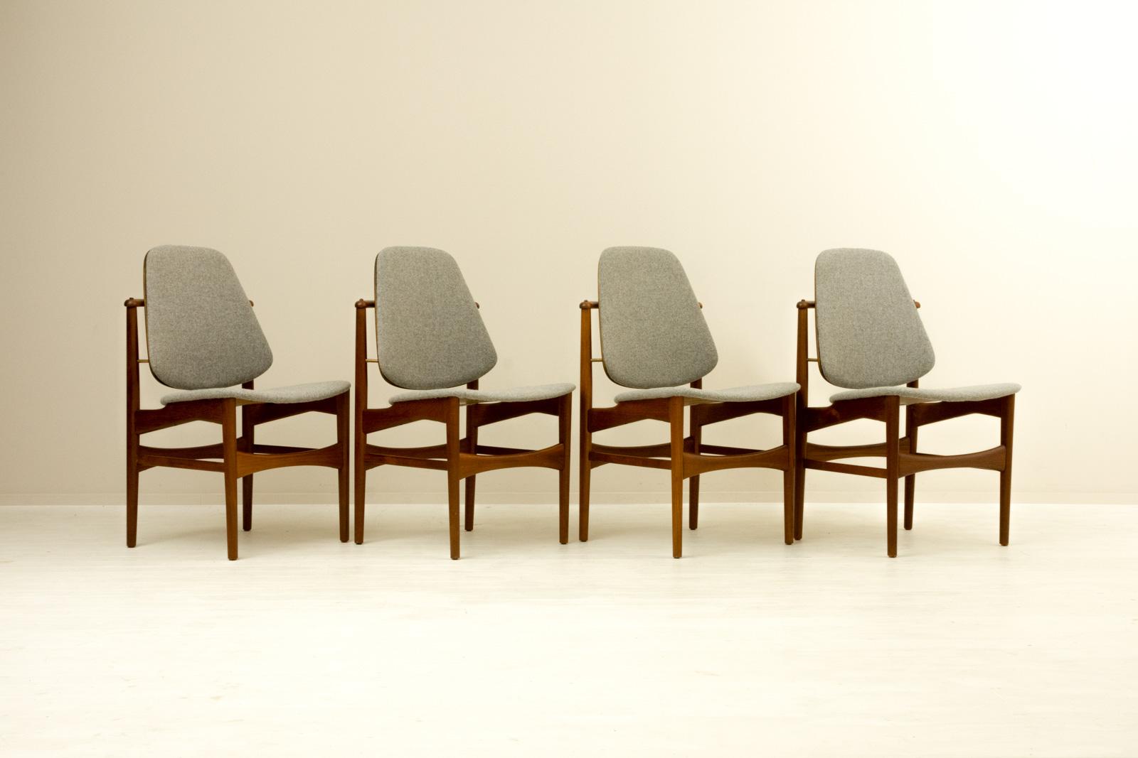 【4脚セット】Dining Chair by Arne Hovmand Olsen