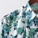 Gabicci メンズ 長袖シャツ フローラル ガビッチ エルム レトロ 花柄シャツ モッズファッション