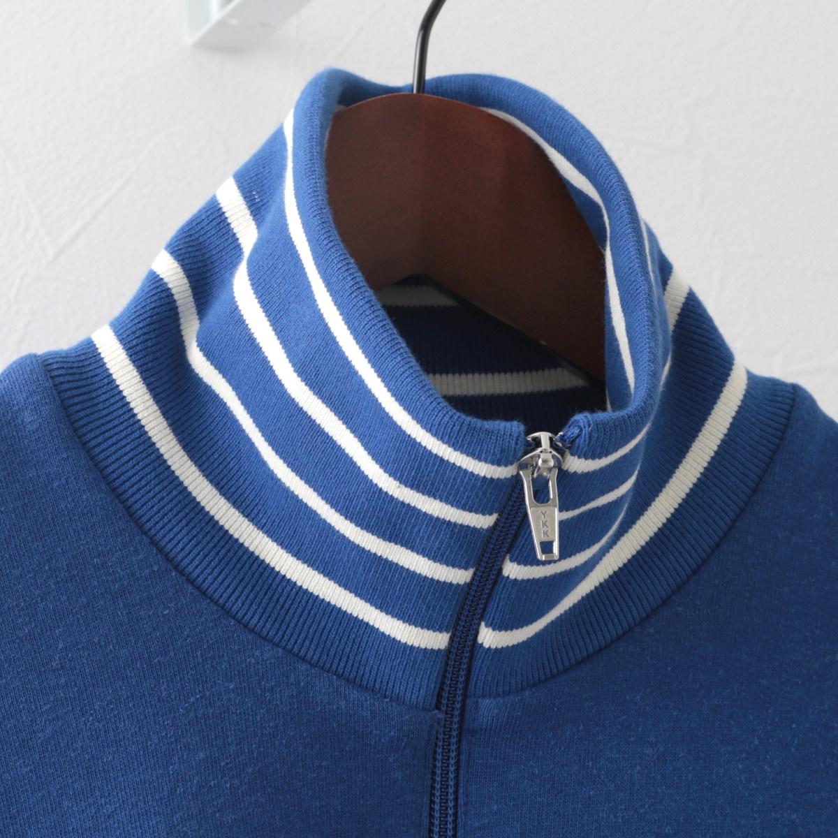 フレッドペリー 秋冬 メンズ ストライプ ネックトラックジャケット Fred Perry ブライトブルー 正規販売店 ギフト トラッド