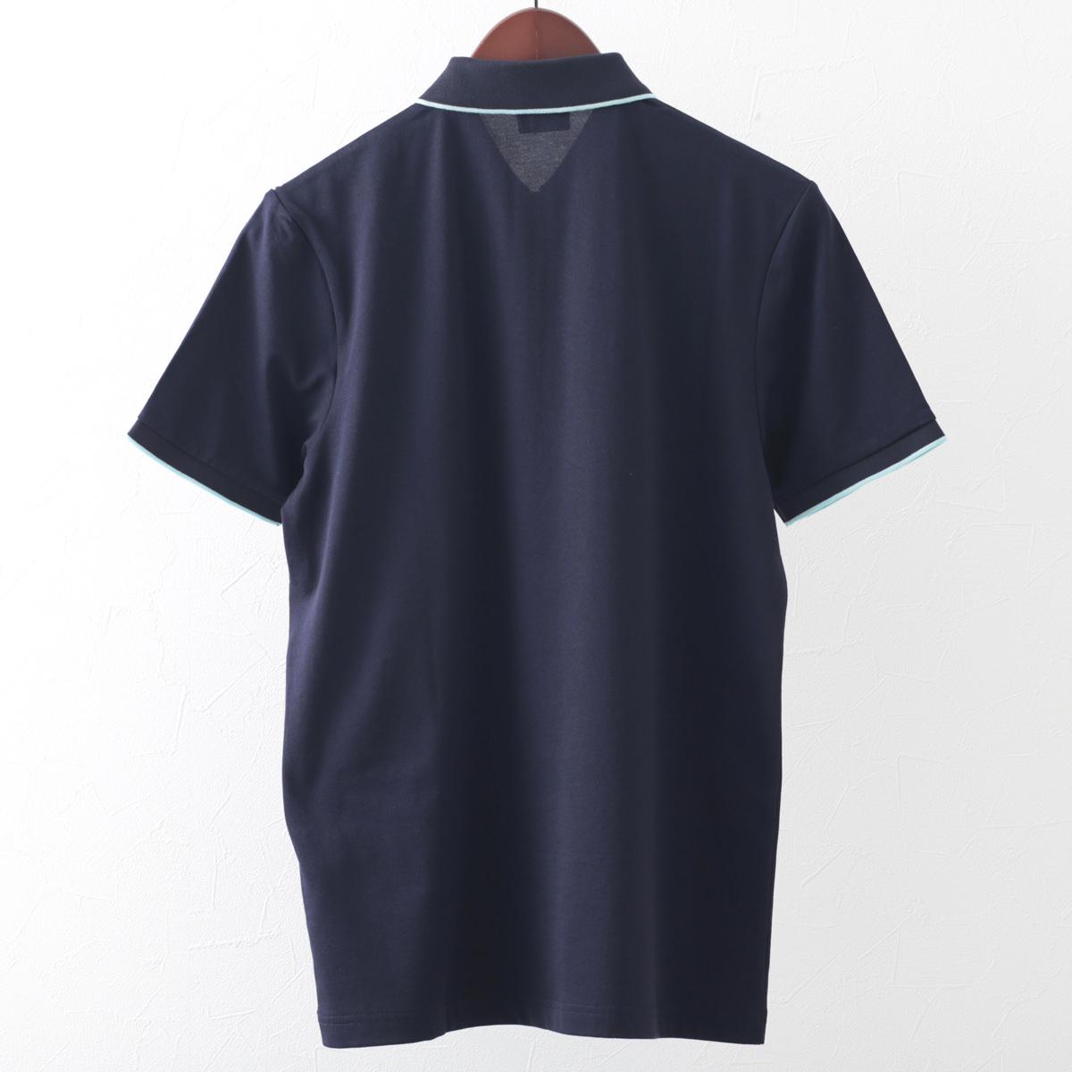 Gabicci メンズ ポロシャツ ポロ ストライプ ジップ ガビッチ 2色 ネイビー ヘイ レトロ モッズファッション