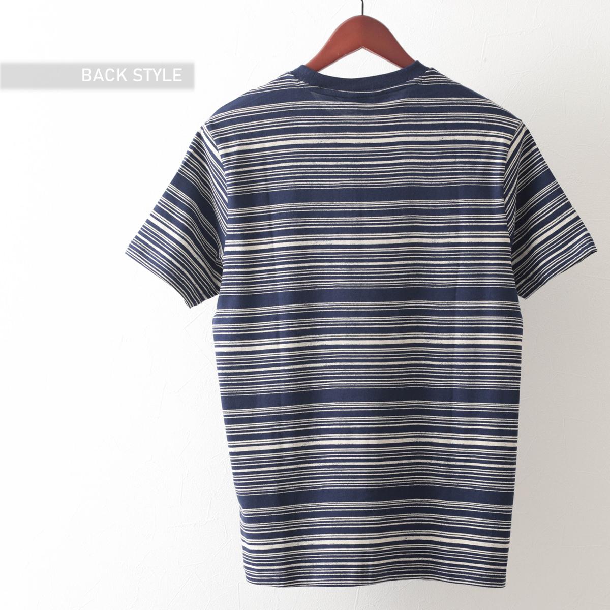Tシャツ ストライプ 2色 オレンジ ネイビー レギュラーフィット Ben Sherman ベンシャーマン