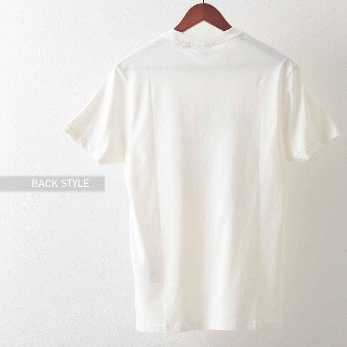 Tシャツ ブライトンフラッグプリント 2色 アイボリー マリン オーガニックコットン レギュラーフィット Ben Sherman ベンシャーマン