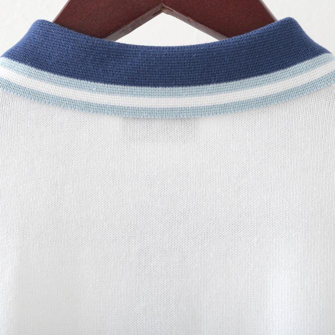 Gabicci メンズ ポロシャツ ポロ ガビッチ ケーブル編み ニット 19SS  レトロ 4色 バタースコッチ ミスト ネイビー ホワイト