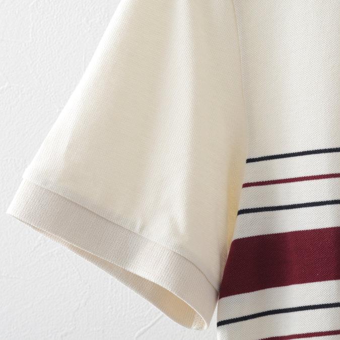 フレッドペリー ポロシャツ クレリック カラーレス ストライプ リイシュー ピケ 鹿の子 エクルー メンズ Fred Perry 正規販売店