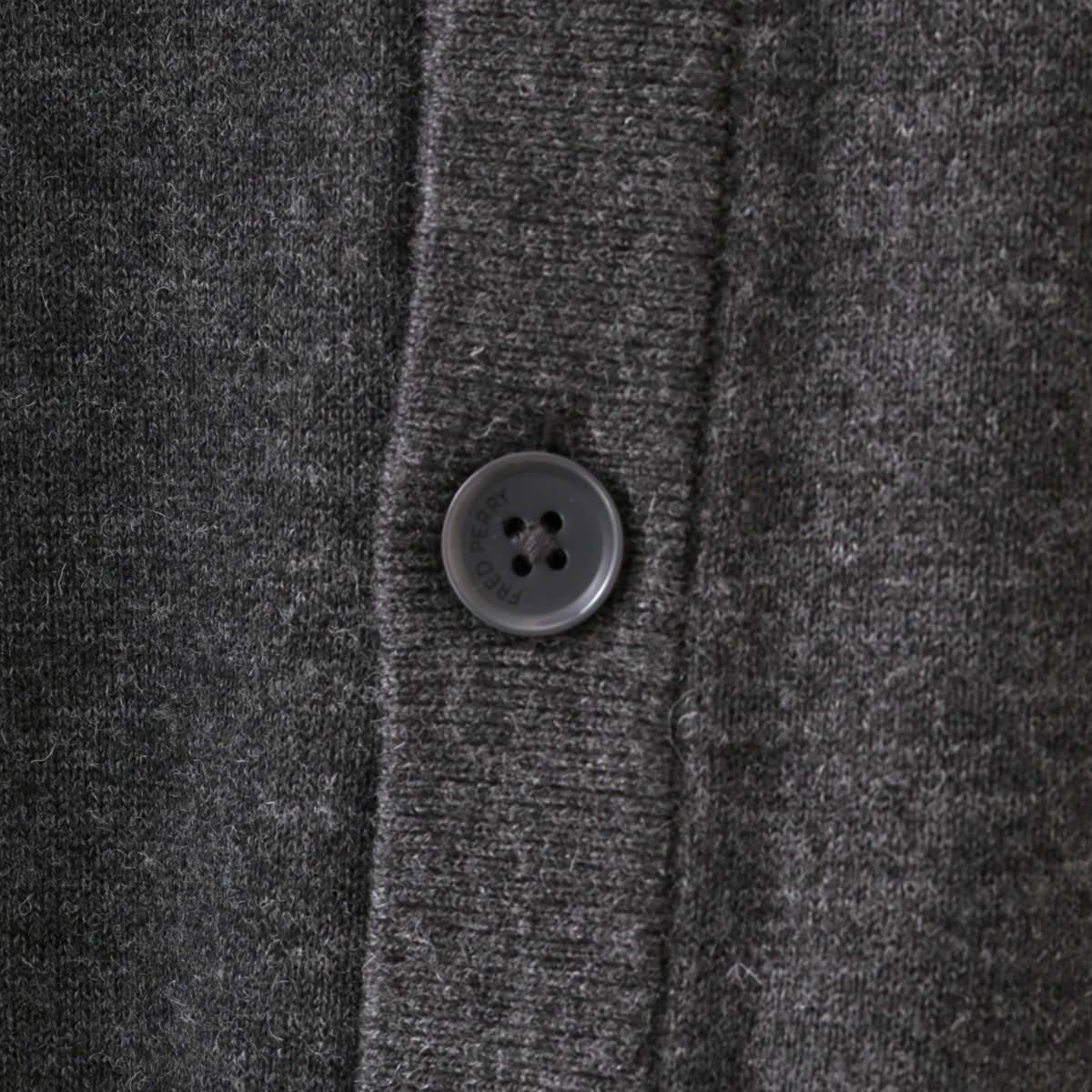 フレッドペリー 秋冬 メンズ カーディガン Vネック Fred Perry 2色 ブラック グラファイトマール 正規販売店 ギフト トラッド
