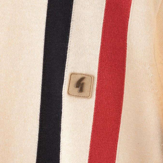 Gabicci メンズ セーター ガビッチ クルーネック ストライプ ニット オート プレッピー レトロ モッズファッション