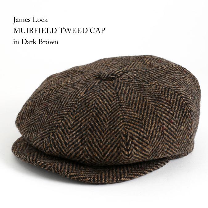 James Lock ジェームスロック ハンチング MUIRFIELD ミュアフィールド ツイード ダークブラウン