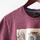 メルクロンドン メンズ Tシャツ ポスター Merc London 19SS 2色 ライトグレーマール ワイン