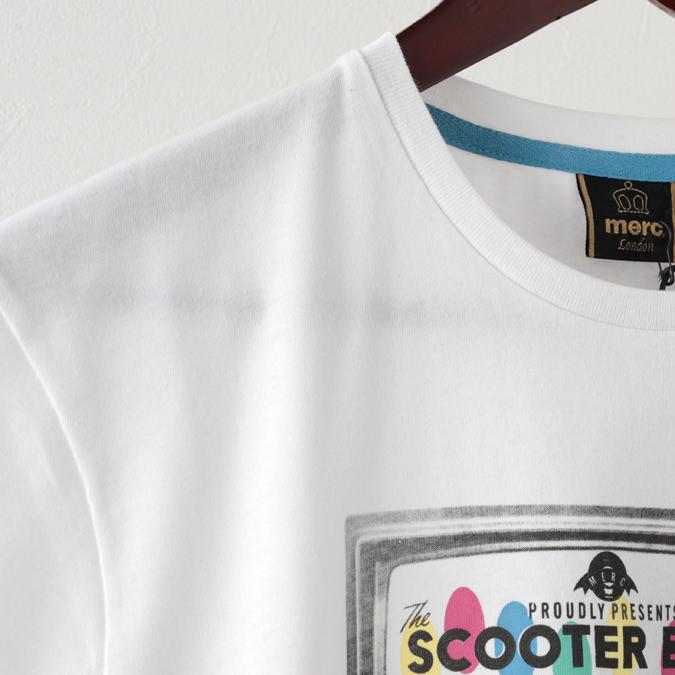 Tシャツ テレビ TV プレミアム 2色 ホワイト ブライトブルー メンズ Merc London メルクロンドン