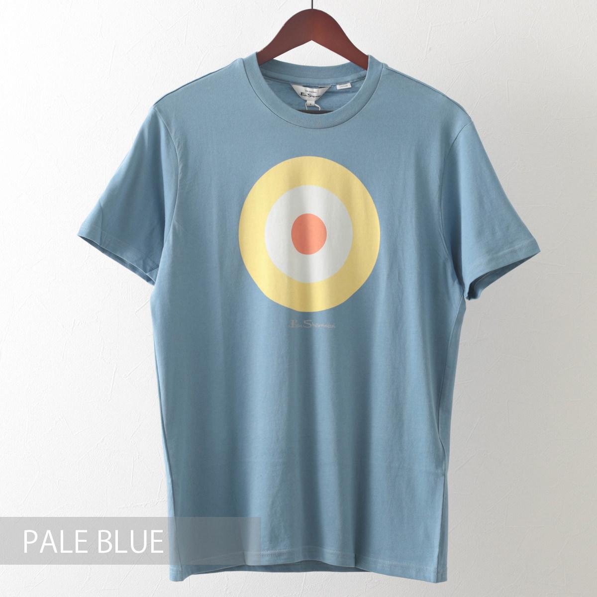 Ben Sherman ベンシャーマン メンズ Tシャツ ターゲットマークプリント 6色 オレンジ ダークネイビー グリーン ペールブルー ホワイト ワイン オーガニックコットン レギュラーフィット