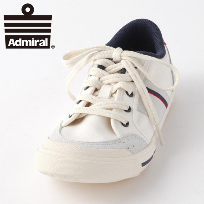 Admiral アドミラル スニーカー レディース メンズ イノマー INOMER シューズ ローカット アイボリーネイビーレッド