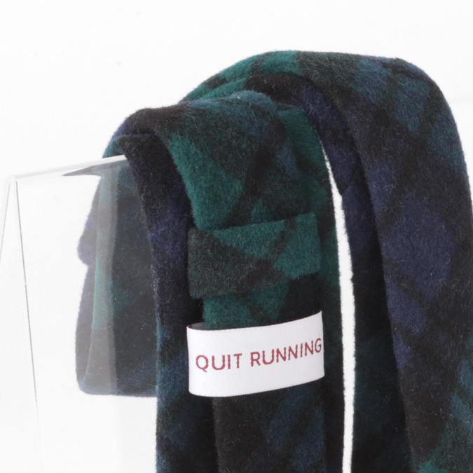 英国ブランドQuit Running ウールタイ  ブラックウォッチ クイトランニング ギフトBOX付 ハンドメイド