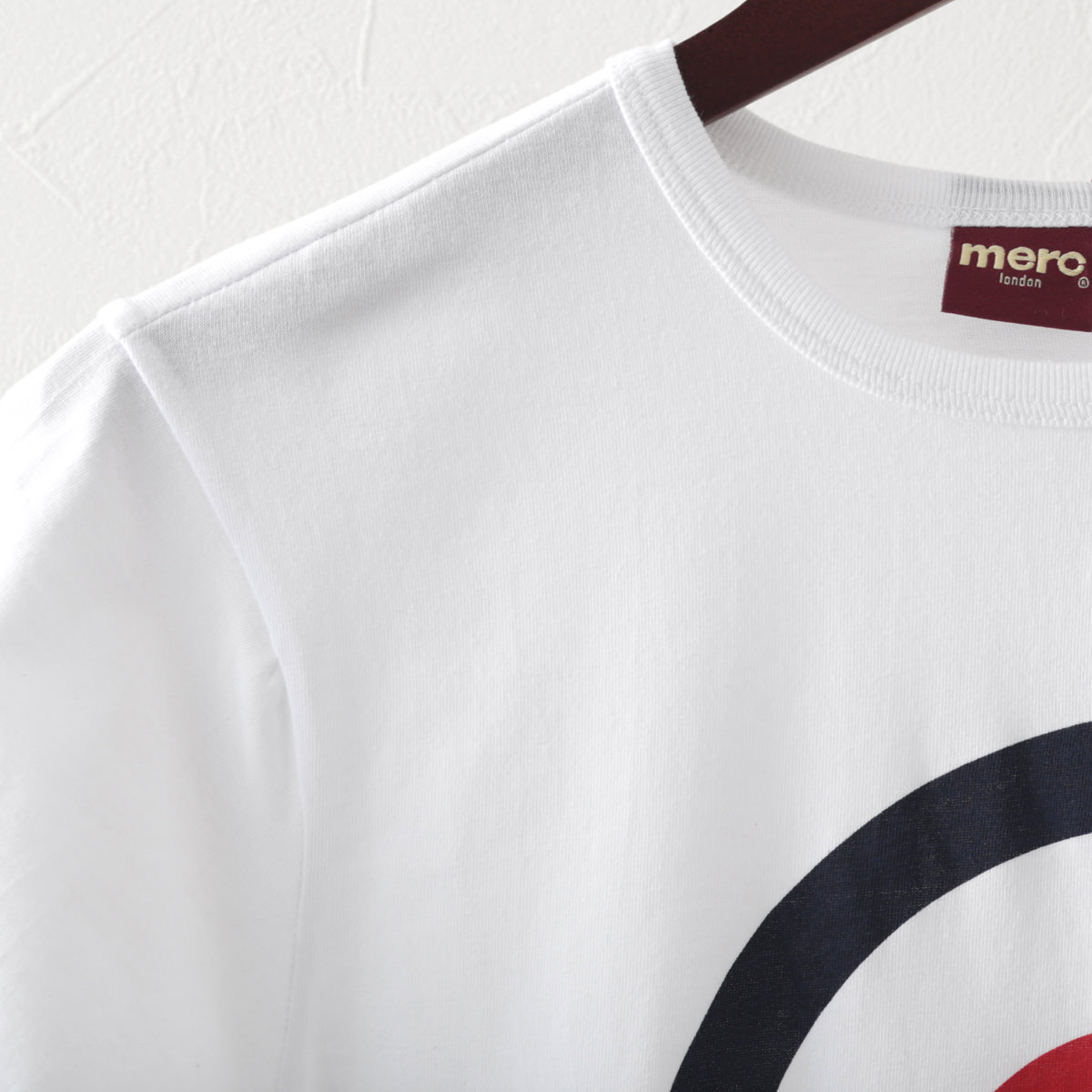 メルクロンドン メンズ Tシャツ ターゲットマーク Merc London ホワイト レトロ