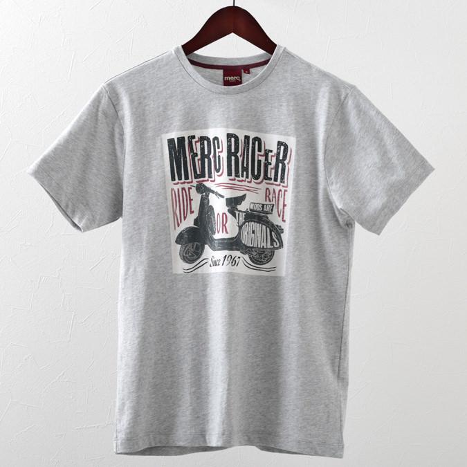 メルクロンドン メンズ Tシャツ Merc London レーサー グラフィック スクーター VESPA ベスパ 19SS 2色 ライトグレーマール ワイン