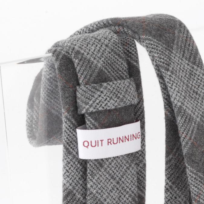 英国ブランドQuit Running ウールタイ  グレータータン クイトランニング ギフトBOX付 ハンドメイド