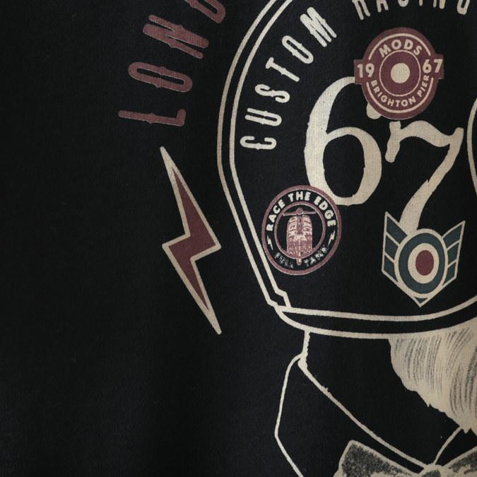 Tシャツ ヘルメット グラフィック ブラック メンズ Merc London メルクロンドン