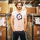 メルクロンドン メンズ Tシャツ ターゲットマーク Merc London 2色 ライトグレーマール ライトサーモン レトロ