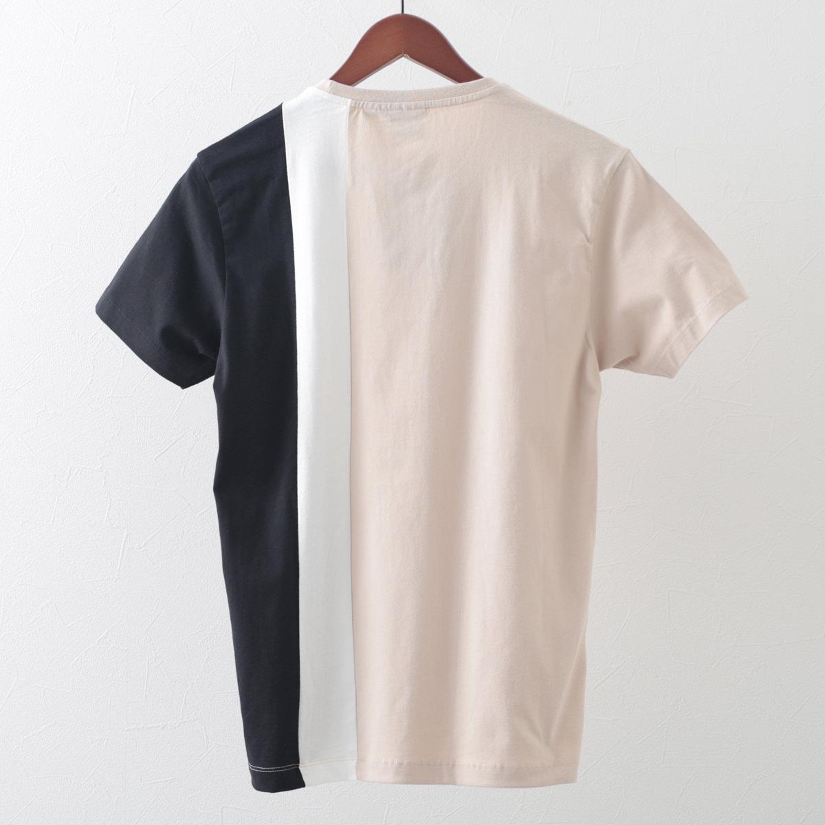メルクロンドン メンズ Tシャツ パネル 切替 Merc London 2色 スレートブルー ストーン レトロ