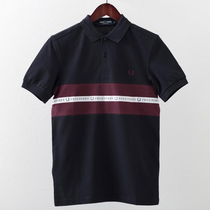 フレッドペリー ポロシャツ スポーツ 2色 テープ ピケ 鹿の子 スノーホワイト ネイビー メンズ Fred Perry 正規販売店