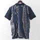 メルクロンドン メンズ ポロシャツ ポロ ストライプ レトロ ネイビー Merc London モッズファッション
