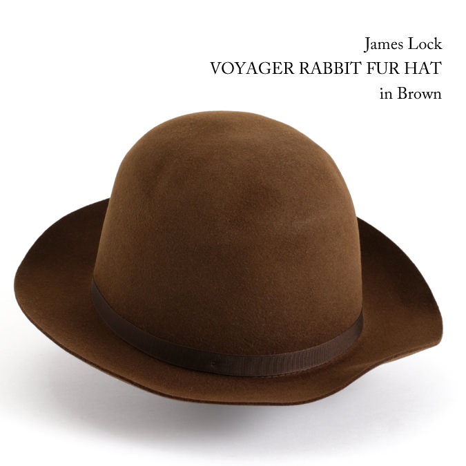 James Lock ジェームスロック VOYAGER ボヤージャー ラビットファー ミッドブラウン フェルトハット