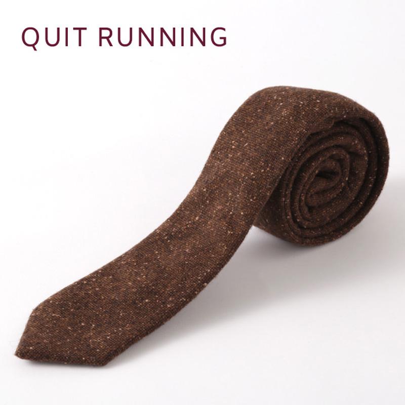 英国ブランドQuit Running ウールタイ  ブラウン ドニゴール クイトランニング ギフトBOX付 ハンドメイド