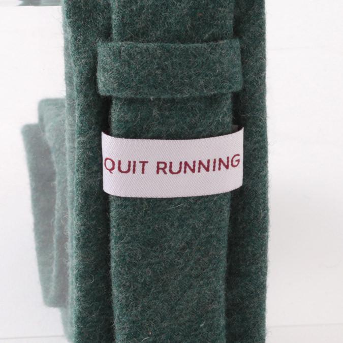 英国ウールネクタイ ハンドメイドツイード Quit Running ウールタイ 英国ブランド プレーン ターコイズ 無地 男性 クイトランニング ギフト BOX付 ハンドメイド 手洗い洗濯OK メンズ シンプル トラッド